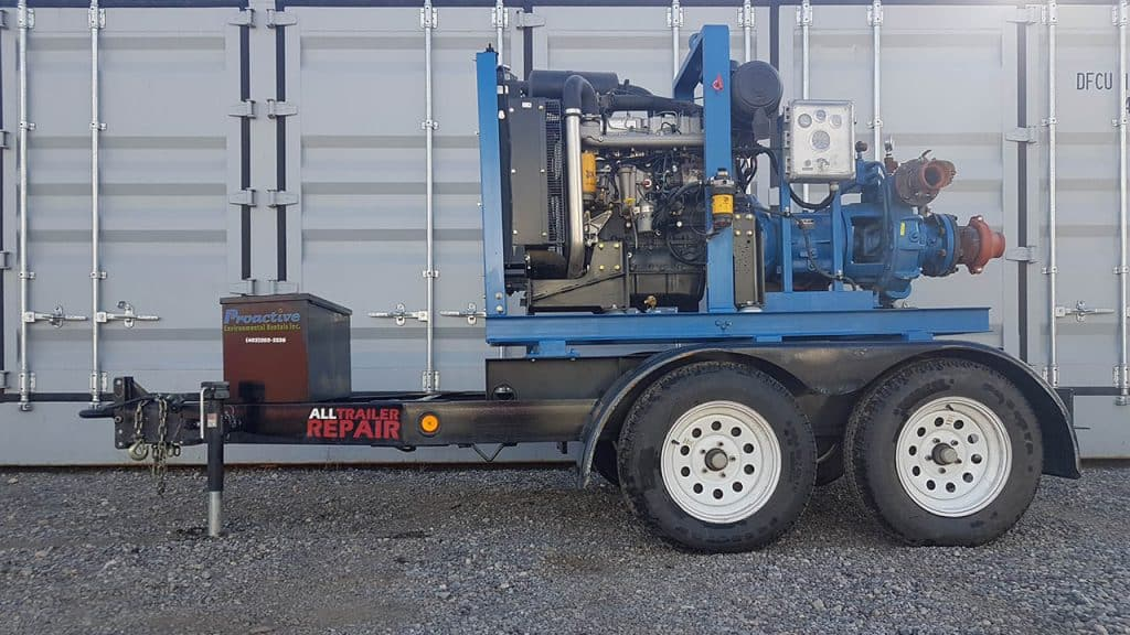 trailer-mounted pump