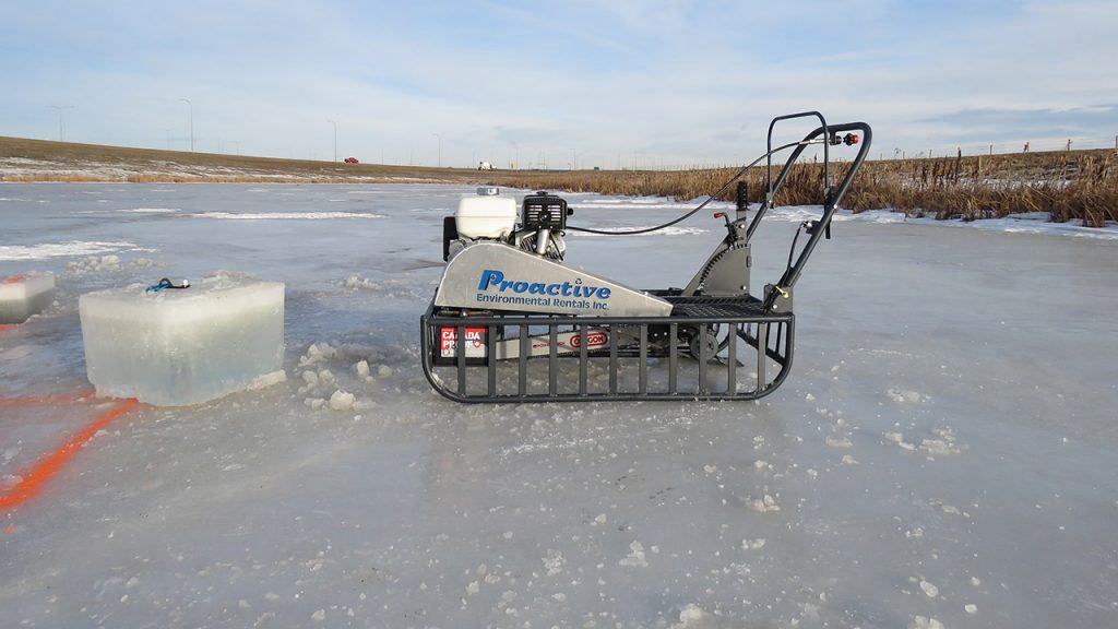 ice sled saw - equipment rental & sales