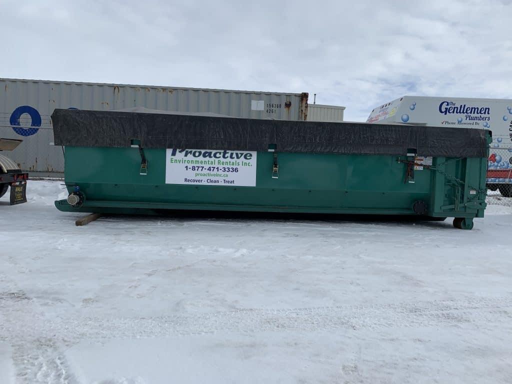 25-yard vacuum dewatering bin.